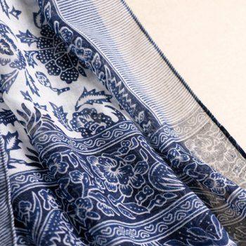 Chic Tassels Embellished Ethnic Printed Multifunctional Women's Pashmina (CADETBLUE) in Scarves | DressLily.com