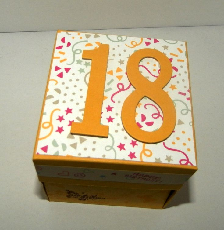 Eine Explosionsbox zum 18. Geburtstag | Judiths Papierträume