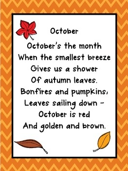 Seasonal poetry packet for primary grades