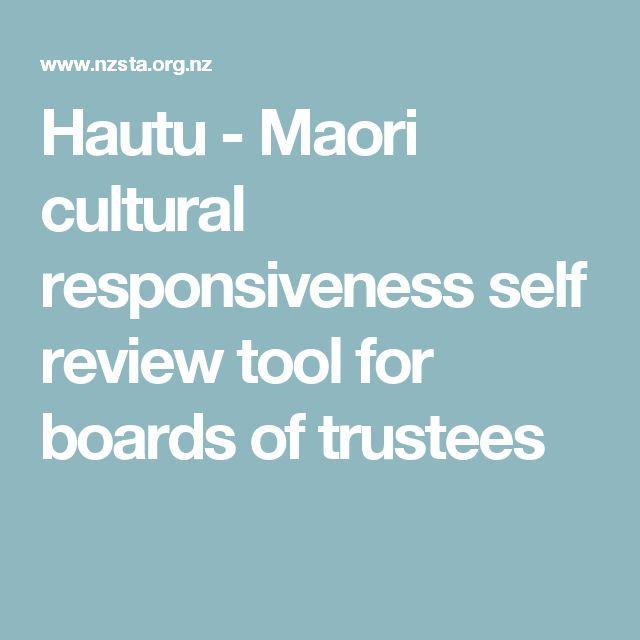 Hautu - Maori cultural responsiveness self review tool for boards of trustees