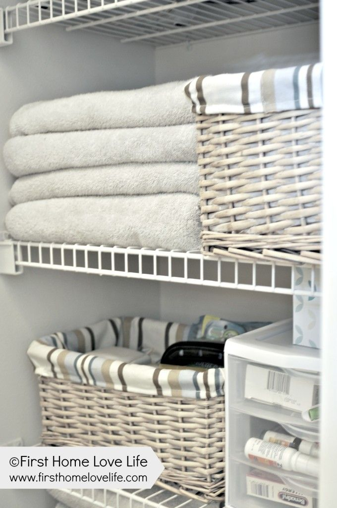 How to organize the linen closet! I need to do this soon.
