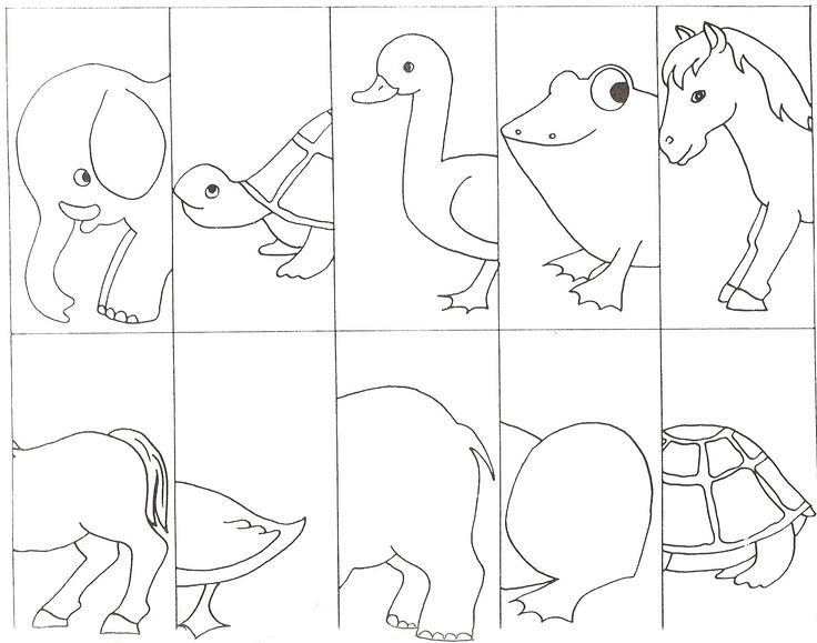 Match the animal body parts.  Repinned by Speech, Language, Literacy Lab. Visit all our boards at: http://www.pinterest.com/sl3lab/