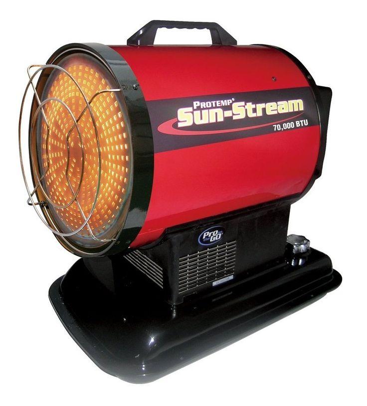 Protemp PT-70-SS Kerosene Radiant Heater, 70,000 BTU