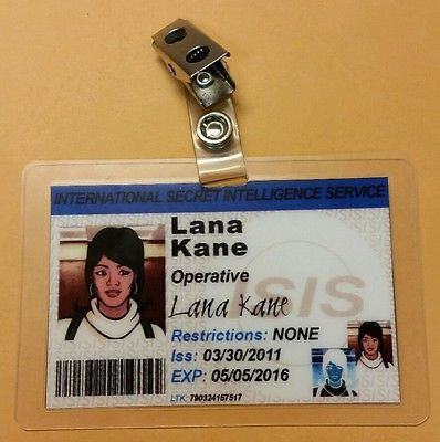 Archer TV Series ID Badge-Lana Kane cosplay costume prop