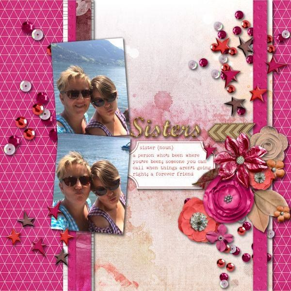 Layout by CTM Debora using {Heart My Sister} Digital Scrapbook Collection by Pixelily Designs available at Gingerscraps http://store.gingerscraps.net/Pixelily-Designs/ #digiscrap #digitalscrapbooking #pixelilydesigns #heartmysister