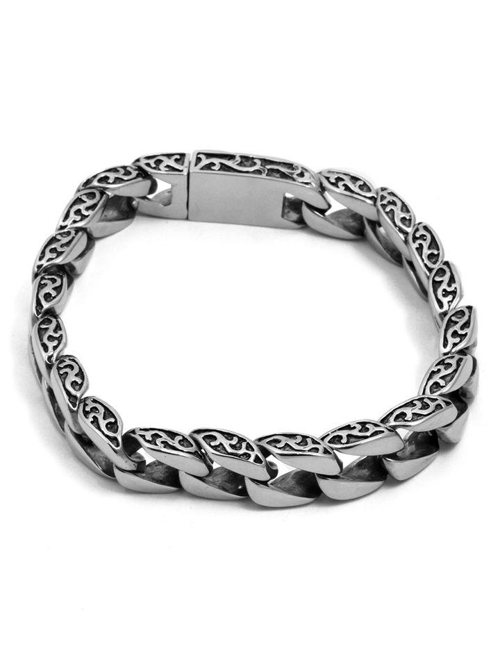 """""""Link"""" Bracelet by Billy Rebs (Stainless Steel) #InkedShop #bracelet #link…"""