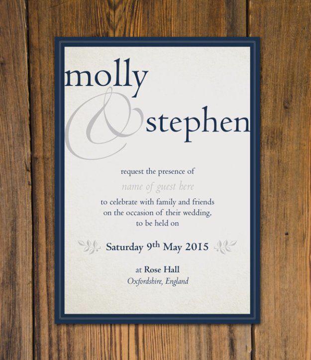 DIY Wedding Invitiations - Create Beautiful Wedding Invitation DIY -  Templates, Free Printables and Wording   Tutorials for Unique, Rustic, Elegant and Vintage Homemade Invites http://diyjoy.com/diy-wedding-invitations