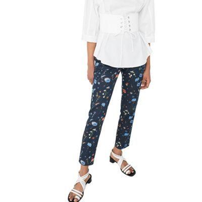 Mango Blue 'Alanopi' floral print trousers | Debenhams