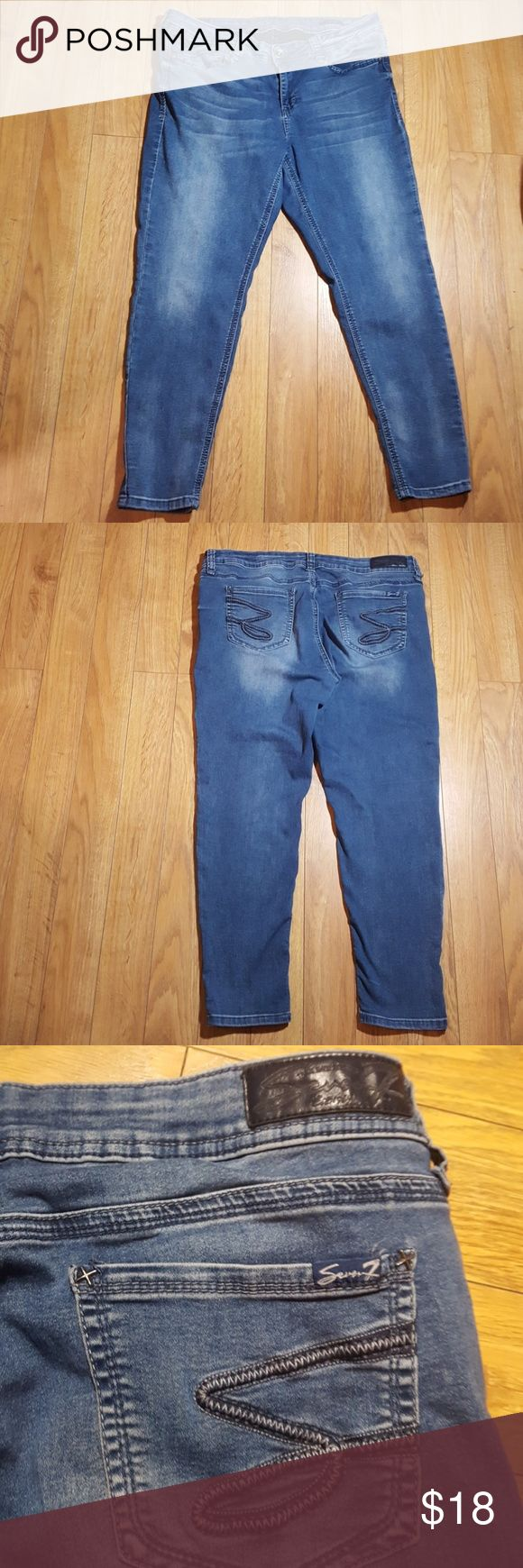 Seven7 jeans Color:blue  Size :16 Legging  In good conditions Seven7 Jeans Skinny
