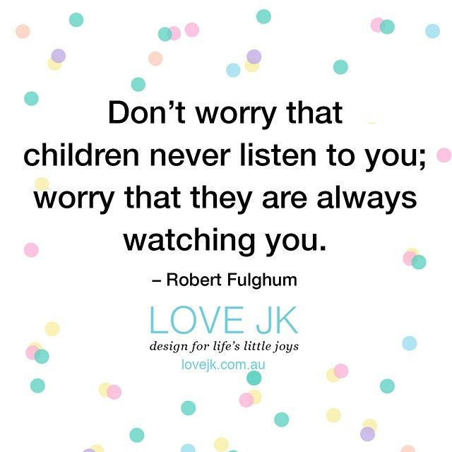 Kids see everything. It's kind of scary.  #tootrue #kids #qotd #parenting #instaquotes #theyrewatchingyou