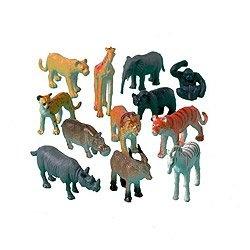 Sauvage chiffres Jungle des animaux jouets, paquet de 12 assorties: Amazon.fr: Cuisine & Maison