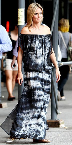 Heidi Klum in an adorable tie dye dress: Ties Dyes Dresses, Celebrity Style, Dresses Bath, Klum Photo, Gypsy Dresses, Closet, Boho Style, Adorable Ties, 05 Ties Di