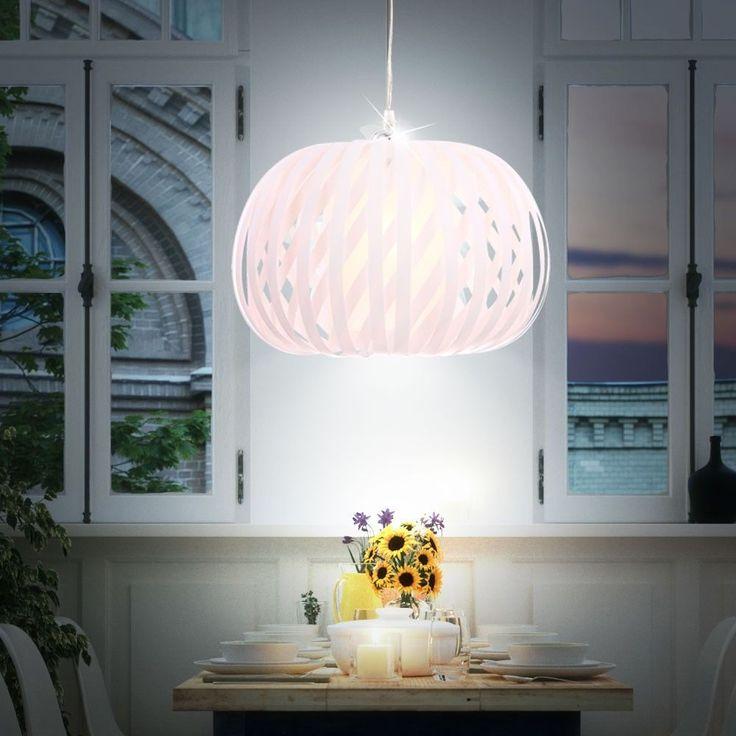 Design LED 7 Watt Pendel Decken Hnge Leuchte Wohnzimmer EEK A Weiss Lobby IP20 In Mbel