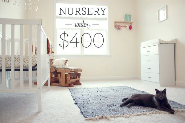 Here 39 s how to create a cute cheap diy nursery with for Cheap cute furniture