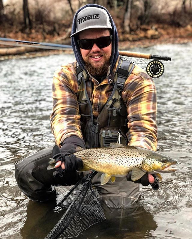Check Out This Hunk Of A Winter Brown Mr Chuckbarracuda Grabbed A Quick Snap Of Congrats Dude Flyfishingjunky Trxstle Tig Brown Trout Dude Instagram