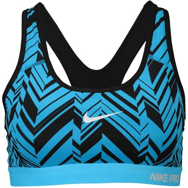 Nike Pro Padded Bra Women's ($40) ❤ liked on Polyvore featuring activewear, sports bras, nike sportswear, nike activewear, nike sports bra, athletic sportswear and black sports bra