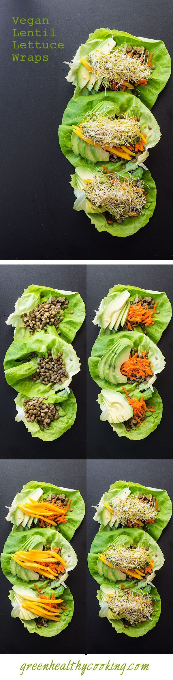 On a delicious ranking scale of 1-5 THESE Vegan Lentil Lettuce Wraps are a FIVE…