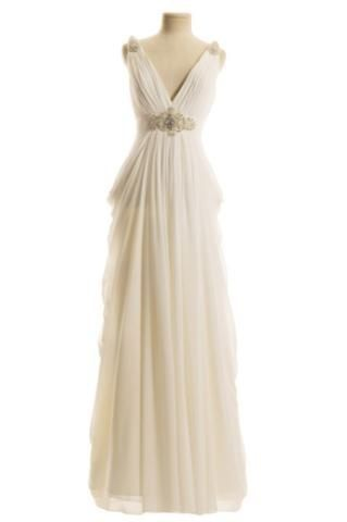 Grecian dress. Grecian wedding dress. Grecian cocktail dress.
