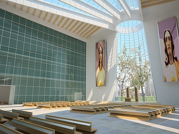 Church Interior Contemporary 3D Model