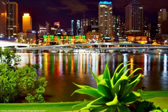 REFLECTION, SOUTH BANK, BRISBANE, BRISBANE IN QUEENSLAND