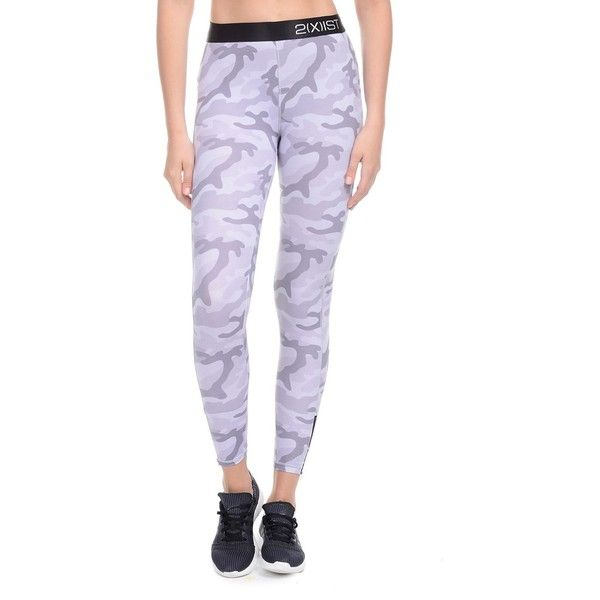 2(X)Ist Camo Logo Leggings (£42) ❤ liked on Polyvore featuring pants, leggings, camo, white pants, camoflage pants, camouflage trousers, camo print leggings and camo pants
