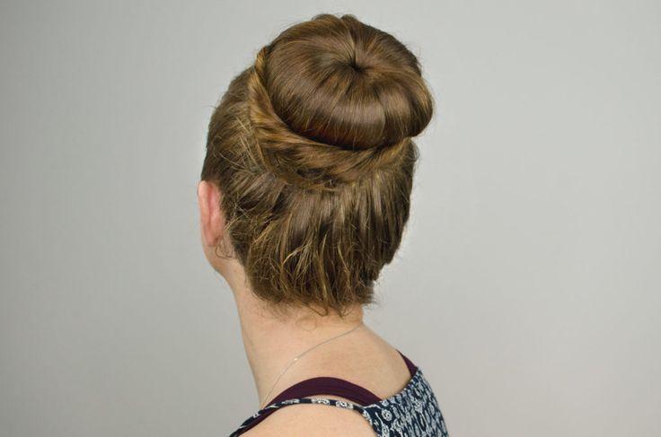 Ballerina Bun Hair Tutorial - side