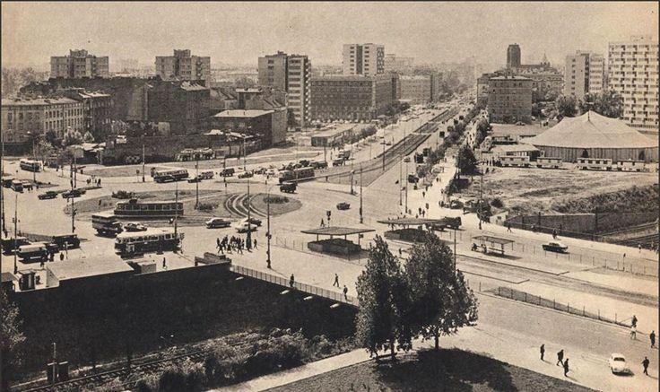 Plac Zawiszy/Towarowa/Grójecka rok 1969. Fotografia: Stefan Kalinowski / tygodnik Stolica nr 4