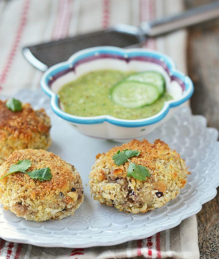 Polpettine di quinoa e fagioli neri con salsa di cetrioli | Caramel à la fleur de sel