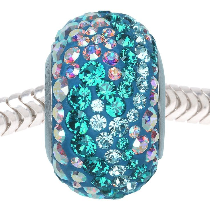 fabulous pave European style bead by Swarovski BeCharmed on Beadaholique. Color: Blue Zircon, Aquamarine, Crystal ABStyle #: 82033Material: Epoxy Clay, Austrian Crystal, Stainless SteelMeasurements: 14.5mmOther Measurements: n/aQuantity: 1 PieceShape: Rondelle