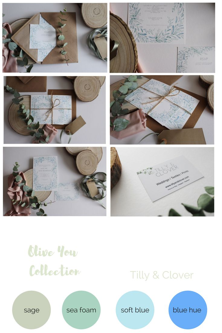 Greenery Wedding Invites.  Bespoke wedding invites.  Olive green wedding stationery   2018 wedding trends invites
