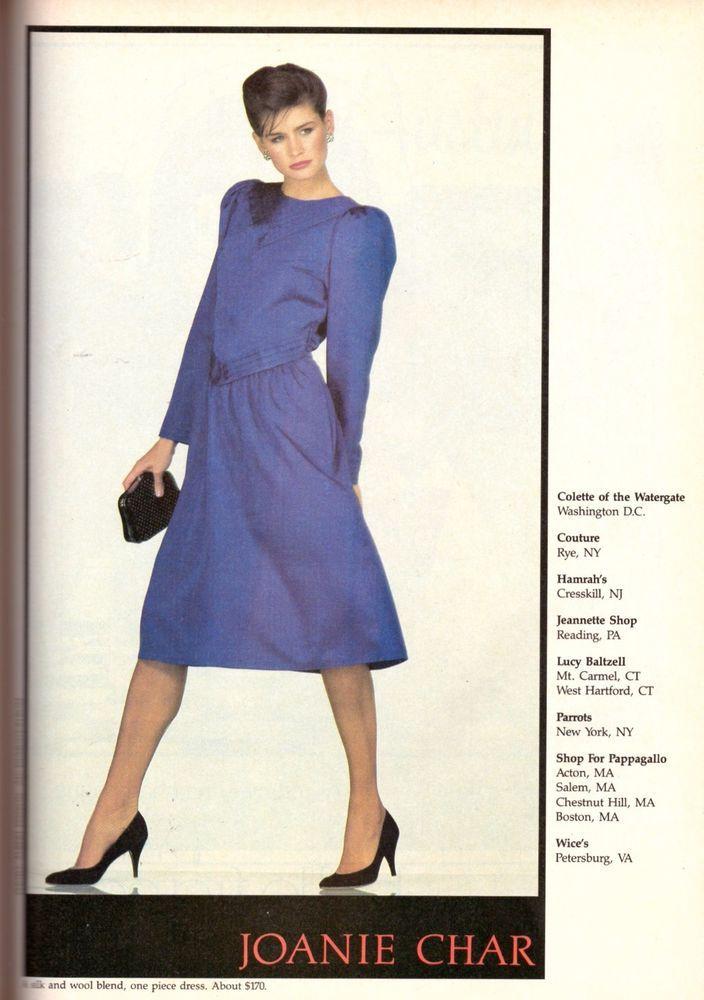 1983 Joanie Char Albert Watson Juli Foster Print Ad Advertisement Vintage 80s | eBay