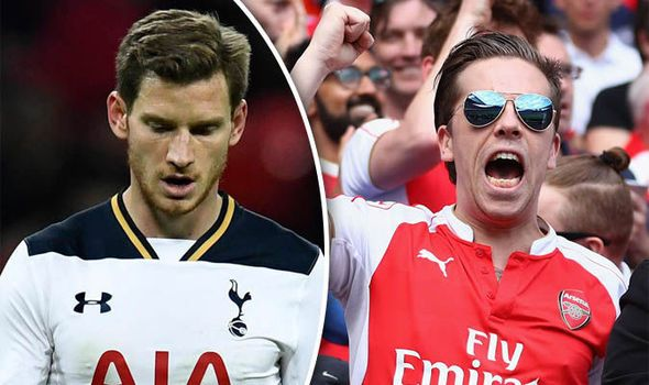 Arsenal fans confident ahead of the North London derby after Spurs' Champions League loss   via Arsenal FC - Latest news gossip and videos http://ift.tt/2ffTClV  Arsenal FC - Latest news gossip and videos IFTTT
