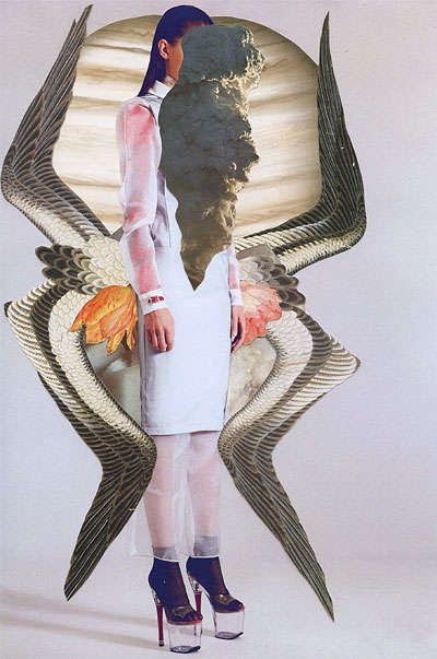Avant-Garde Fashion Collages - Dash Magazine by Ashkan Honarvar Showcases 'Excess in Minimalism' (GALLERY)
