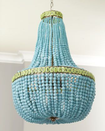 Regina-Andrew Design Turquoise Beads Chandeleir - Horchow -I am looking for the perfect chandelier to try this on!