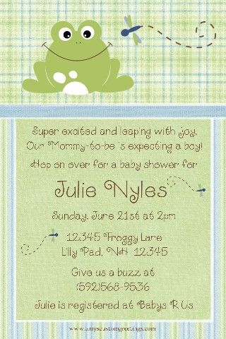 32 best Frog Baby Shower images on Pinterest Frog baby showers