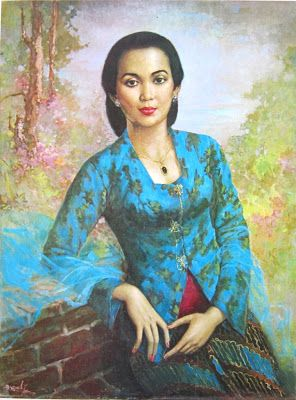 """Wanita Solo"" by Basuki Abdullah, Medium: oil on canvas, Size: 75cm X 100cm"