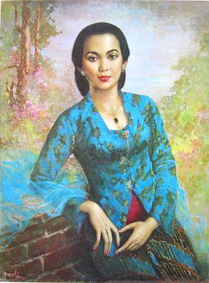 """Wanita Solo"" by Basuki Abdullah, Medium: oil on canvas, Size: 75cm X 100cm"