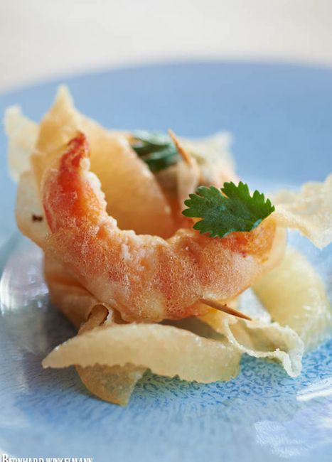 crevettes tempura sauce agrumes © B. Winkelman
