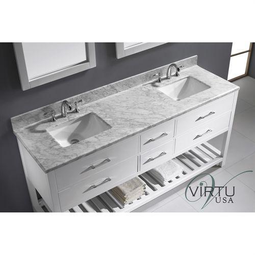 Photo Gallery For Website Virtu USA MD WMSQ Caroline Estate Double Square Sink Bathroom Vanity