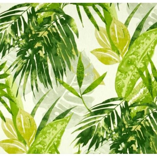 Description: Tropical leaf design fabric is suitable for cushion covers, slipcovers, curtains, home decorating items, curtains and medium weight upholstery. This is another exceptional quality fabric by Duralee Home. Colours: Shades of green on pale green background Fabric type