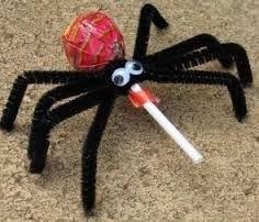 funny spider lollipop