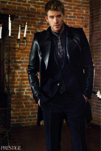 """""""The Hunger Games"""" star Liam Hemsworth showed his classy and sophisticated side in the May issue of Hong Kong's """"Prestige Magazine."""""""
