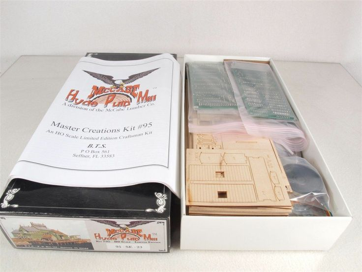 Master Creations 95 SE HO McCabe Hyde Pulp Mill w Sound Craftsman Building Kit | eBay