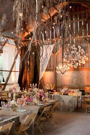 Barn interior better shot Venue: Rancho Dos Pueblos http://sbchic.com/2012/04/16/real-wedding-bohemian-splendor-at-dos-pueblos-ranch/