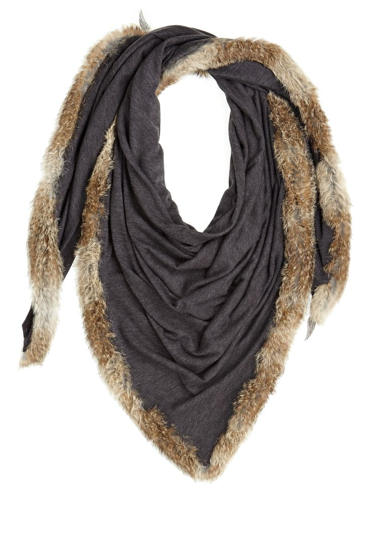 Celebrate #CalypsoCares and receive 25% off your next purchase when you donate a gently used sweater at a Calypso Boutique. You can also now show your support by giving online! Donni Fierce Fur Trim Charcoal Scarf