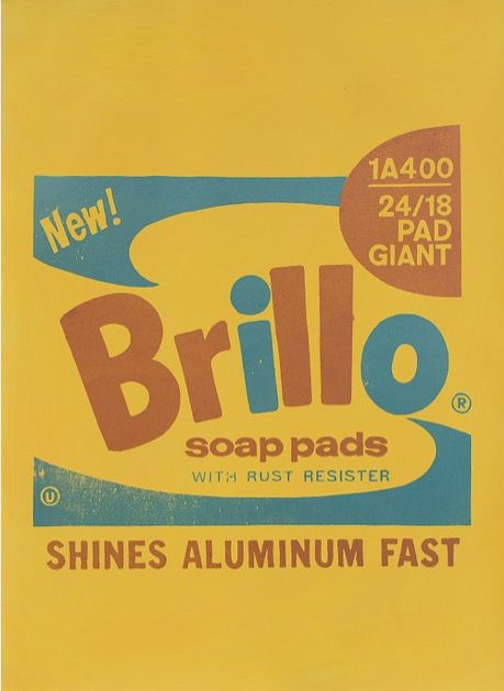 "#LifeOnWall #PapeBoxGallery ""Brillo Soap Pad Gold"" Unique high quality art piece (only one). Handmade silkscreen and paint. Paper 300 g Gallerie Art Silk. Size 25,98 x 18,11 Inch (66 x 46 cm).  195 USD"