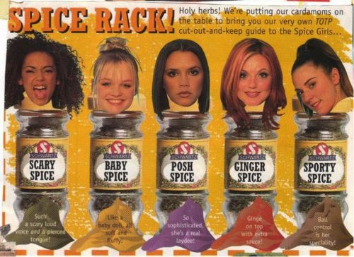 Spice Girls Names and Nicknames   Old Spice   Spice girls ...