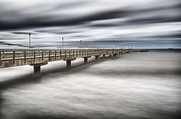 Seebrücke Ahlbeck - Usedom. Ostsee, Germany
