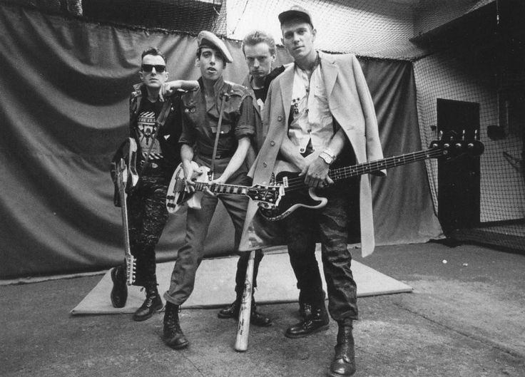 The Clash backstage at Shea Stadium (1982). I was right back there with them. It seems like a dream now.