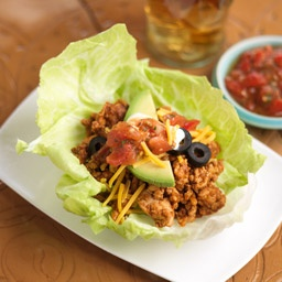 Fiesta Lettuce Cups. You might need to tweak to fit the plan but yum!!